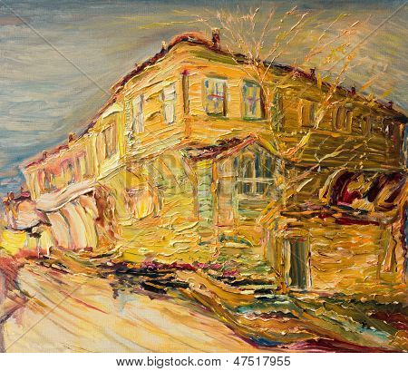 Old House in Golden Colors