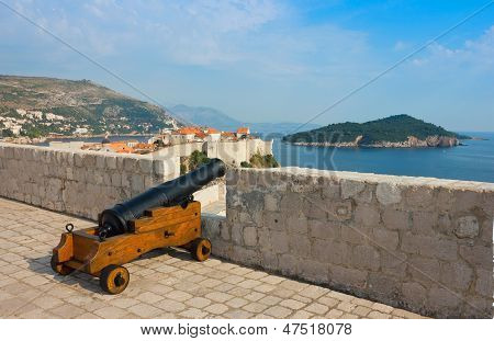View Toward Old Town Dubrovnik And Island Lokrum