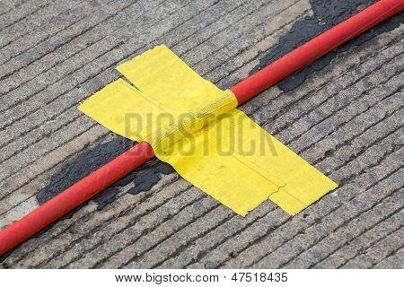 Yellow Cloth Adhesive Tape