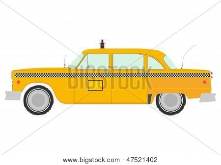 Retro Yellow Cab Silhouette.
