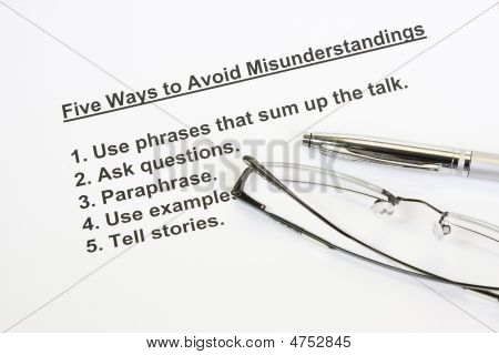 Five Ways To Avoid Misunderstanding