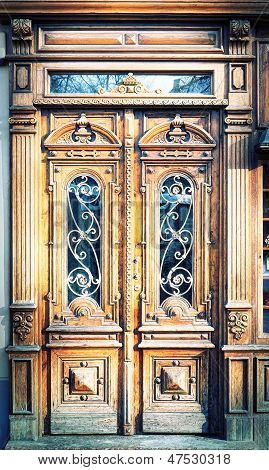 Old Carved Wooden Doors.