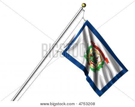 Isolated West Virginia Flag