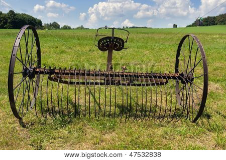 Rusty Harrow Plow Back