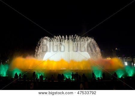Fountain Show In Barcelona