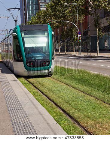 Tram In Barcelona