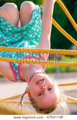 Girl And Jungle Gym