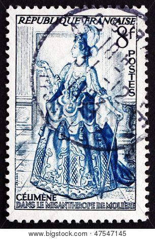 Postage Stamp France 1953 Celimene From The Misanthrope