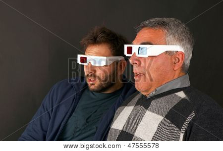 Two Men Wearing 3D Glasses