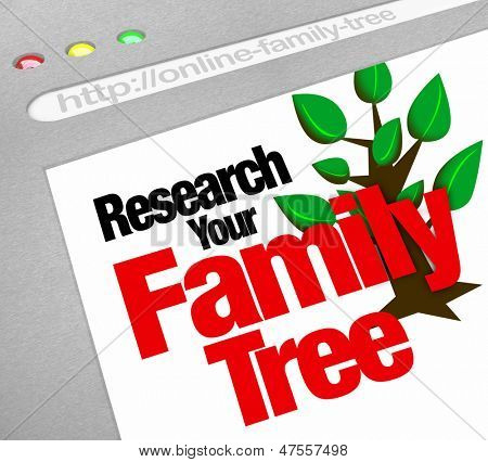An online database for researching your family tree and heritage on a website library of historical records