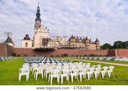 CZESTOCHOWA, POLAND - JUNE 24:Architecture of Jasna Gora monastery in Czestochowa on 24 June 2013. Sanctuary is the heart of pilgrimage in Poland and home to the holy Icon of the Black Madonna.