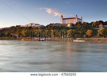 Bratislava Castle And Bridge