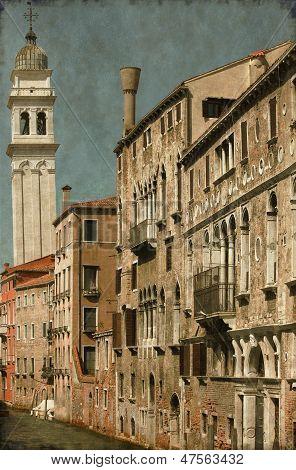 Urban Scenic Of Venice - Vintage