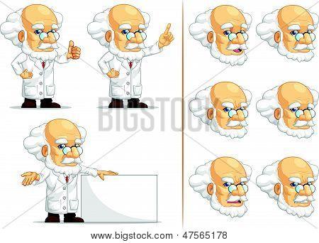 Scientist Or Professor Customizable Mascot 6