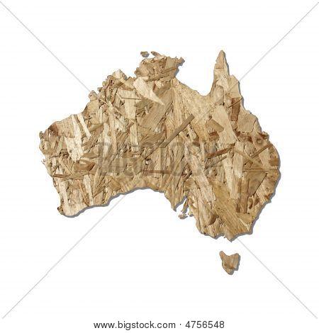 Chipboard Australia Map