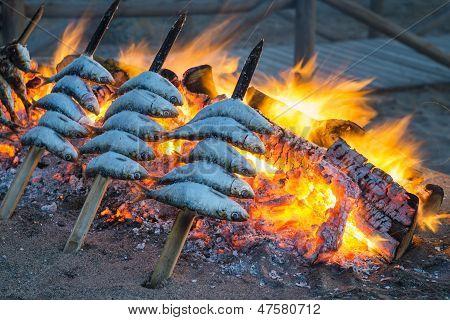 Churrasco de sardinha