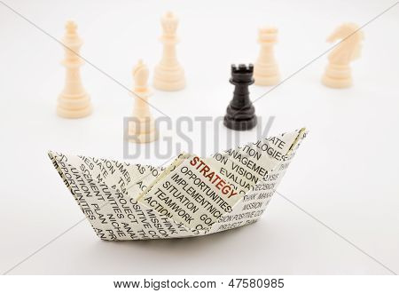 Strategy Boat And Chess