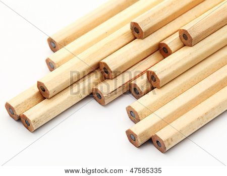 New pencil isolated on white background