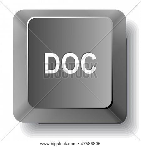 Doc. Vector computer key.