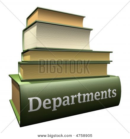 Education books - departments