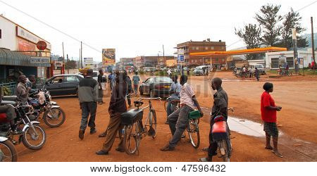 Taxi Bikes Waiting In Kabale