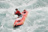 pic of raft  - Rafting as extreme and fun team sport - JPG
