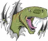 stock photo of tyrannosaurus  - Tyrannosaurus Rex Dinosaur Vector Illustration - JPG