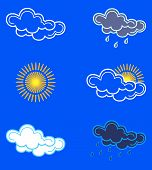 Weather Icons. Vector poster