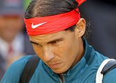 BARCELONA - APRIL, 24: Spanish tennis player Rafa Nadal before a match of Barcelona tennis tournamen