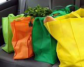 foto of grocery-shopping  - Four colorful eco - JPG