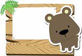 baby bear sign board