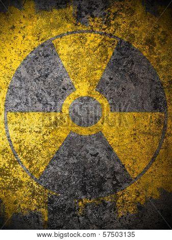 Dirty Yellow Nuclear Warning Symbol