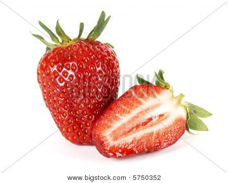 Half And Whole Strawberries