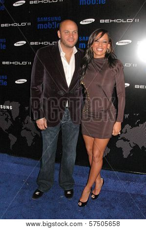 Stephen Belafonte and Melanie Brown  at the Samsung Behold ll Premiere Launch Party, Blvd. 3, Hollywood, CA. 11-18-09
