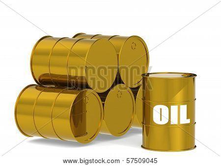 Golden Oil Drums