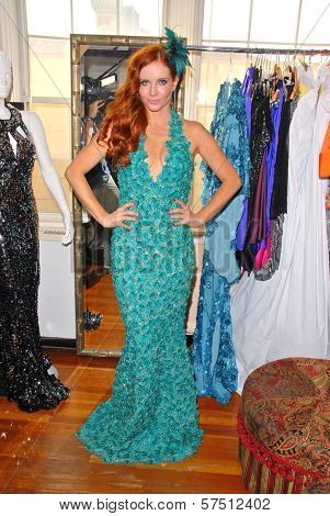 Phoebe Price wearing designs by Tal Sheyn  at Tal Sheyn Studios preparing for the American Music Awards, Tal Sheyn Studios, Hollywood, CA. 11-22-09  EXCLUSIVE