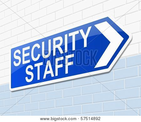Security Staff Sign.