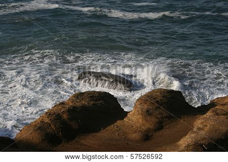 Waves on Rocky Oregon Coast USA