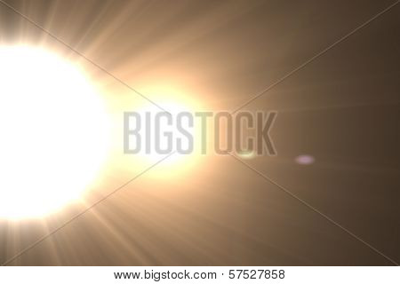 Star, sun with lens flare. Rays background.