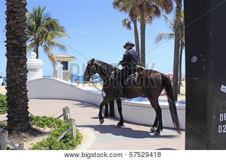 Mounted Police Office On The Coast