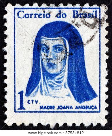 Postage Stamp Brazil 1967 Mother Joana Angelica