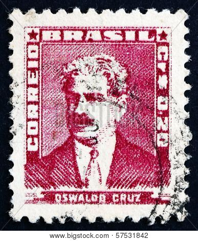 Postage Stamp Brazil 1954 Oswaldo Cruz, Physician