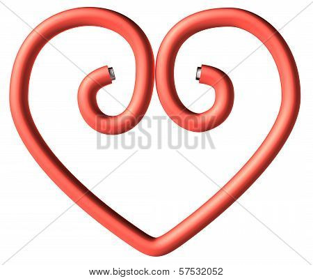 One Red Paperclip Heart