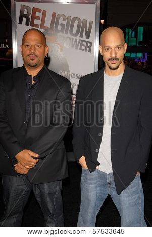 Albert Hughes and Allen Hughes at 'The Book Of Eli' Premiere, Chinese Theater, Hollywood, CA. 01-11-10