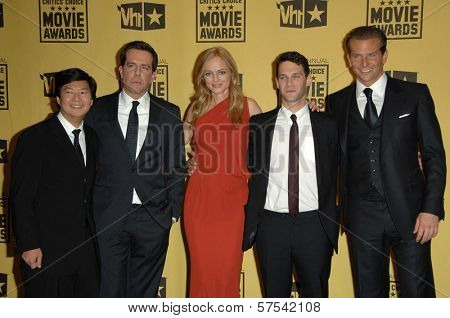 Ken Jeong, Ed Helms, Heather Graham, Justin Bartha and Bradley Cooper at the 15th Annual Critic's Choice Awards, Hollywood Palladium, Hollywood, CA. 01-15-10