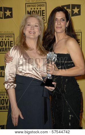 Meryl Streep and Sandra Bullock at the 15th Annual Critic's Choice Awards, Hollywood Palladium, Hollywood, CA. 01-15-10