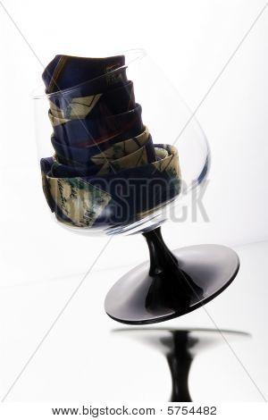 Cognac glass and tie
