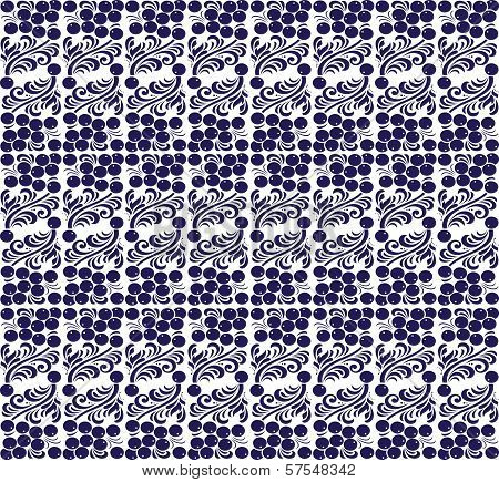 Eastern European Traditional Seamless Pattern With Berries