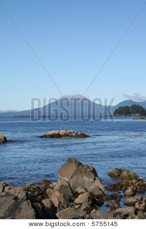 Mt Edgecumbe Volcano near Sitka Alaska