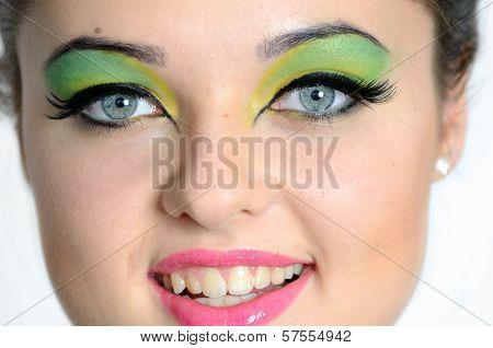 Close Face Photo With Makeup